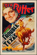 "Movie Posters:Western, Trouble in Texas (Grand National, 1937). One Sheet (27.25"" X40.75""). Western.. ..."