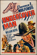 """Movie Posters:Western, Undercover Man (Paramount, 1942). One Sheet (27"""" X 41""""). Western.. ..."""