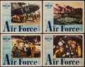 "Movie Posters:War, Air Force (Warner Brothers, 1943). Lobby Cards (4) (11"" X 14"").War.. ... (Total: 4 Items)"