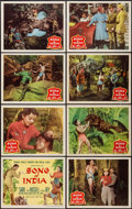 """Movie Posters:Adventure, Song of India (Columbia, 1949). Lobby Card Set of 8 (11"""" X 14"""").Adventure.. ... (Total: 8 Items)"""