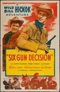 """Movie Posters:Western, Six Gun Decision (Allied Artists, 1953). One Sheet (27"""" X 41"""") & Lobby Cards (8) (11"""" X 14). Western.. ... (Total: 9 Items)"""