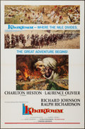 "Movie Posters:Adventure, Khartoum (United Artists, 1966). One Sheet (27"" X 41"") Flat FoldedStyle B. Adventure.. ..."