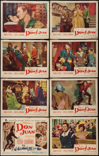 """The Adventures of Don Juan (Warner Brothers, 1948). Lobby Card Set of 8 (11"""" X 14""""). Swashbuckler. ... (Total:..."""