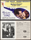 "Movie Posters:Hitchcock, Notorious & Others Lot (RKO, 1946). British Magazine Trade Ad(4 Pages, 8.5"" X 11"") DS, British Magazine (Multiple Pages, 8....(Total: 7 Items)"