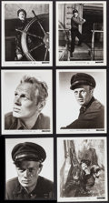 """Movie Posters:Adventure, Richard Widmark in Down to the Sea in Ships & Others Lot (20thCentury Fox, 1949). Portrait & Scene Photos (9) (approx. 8""""X... (Total: 9 Items)"""