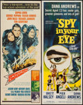"Movie Posters:Adventure, Spy in Your Eye & Other Lot (American International, 1966).Inserts (2) (14"" X 36""). Adventure.. ... (Total: 2 Items)"