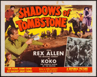 "Shadows of Tombstone (Republic, 1953). Half Sheet (22"" X 28"") Style B & Lobby Card Set of 8 (11"" X 14..."