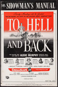 "Movie Posters:War, To Hell and Back & Other Lot (Universal International, 1955).Uncut Pressbooks (2) (Multiple Pages, 12"" X 18""). War.. ... (Total:2 Items)"