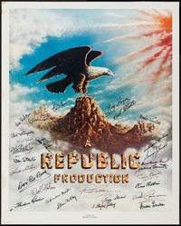"Stars of Republic Pictures (Nostalgia Merchants, 1977). Autographed Artist Proof Poster (24"" X 30""). Serial..."