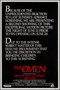 """Movie Posters:Horror, The Omen & Other Lot (20th Century Fox, 1976). Posters (2) (40"""" X 60""""). Horror.. ... (Total: 2 Items)"""