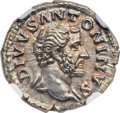 Ancients:Roman Imperial, Ancients: Divus Antoninus Pius (died AD 161). AR denarius (19mm,3.33 gm, 5h). ...