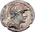 Ancients:Greek, Ancients: GRECO-BACTRIAN KINGDOM. Eucratides I the Great (ca.170-145 BC). AR tetradrachm (34mm, 16.98 gm, 11h)....