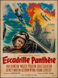 "Movie Posters:War, Men of the Fighting Lady (MGM, 1955). French Grande (47"" X 63"").War.. ..."