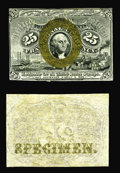 Fractional Currency:Second Issue, Fr. 1283SP 25c Second Issue Narrow Margin Pair Choice New. A very attractive matching pair, with the bronzing on the front s... (Total: 2 notes)