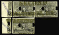 Fractional Currency:Second Issue, Milton 2E50F.2a 50¢ Second Issue Essay (Experimental) MatchingBlock of Five. This lot comes from the Tom O'Mara Collection ...(Total: 5 items)