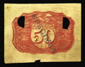 Fractional Currency:Second Issue, Milton 2E50R.1 50¢ Second Issue Negative Essay New. Printed on an odd, thin fibrous paper quite unlike the normal fiber pape...