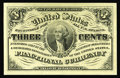 Fractional Currency:Third Issue, Fr. 1226 3c Third Issue Gem New. Few three cent notes have margins this broad and paper this original....