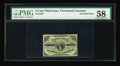 Fractional Currency:Third Issue, Fr. 1226 3c Third Issue Inverted Back PMG Choice About Unc 58. Three Cent Inverts are very rare. When Milt Friedberg's Encyc...