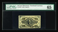Fractional Currency:Third Issue, Fr. 1253 10¢ Third Issue PMG Gem Uncirculated 65. The hand autographs of both Colby and Spinner are large and dark on this n...