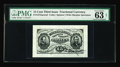 Fractional Currency:Third Issue, Fr. 1272SP 15¢ Third Issue PMG Choice Uncirculated 63. This Wide Margin Grant-Sherman printed signature face has the comment...