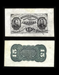 Fractional Currency:Third Issue, Fr. 1272SP 15c Third Issue Wide Margin Pair Very Choice New. Both face and back have excellent paper originality. The back i... (Total: 2 notes)