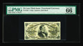 Fractional Currency:Third Issue, Fr. 1291 25c Third Issue PMG Gem Uncirculated 66. An outstanding Red Back Fessenden that PMG clearly likes as much as we do....