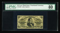 Fractional Currency:Third Issue, Fr. 1299 25¢ Third Issue PMG Extremely Fine 40. With beautiful face margins, and far brighter and better printed than most e...
