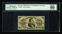 Fr. 1299 25¢ Third Issue PMG Extremely Fine 40. With beautiful face margins, and far brighter and better printed th...