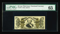 Fractional Currency:Third Issue, Fr. 1333 50c Third Issue Spinner PMG Gem Uncirculated 65. A premium note with boardwalk margins. The 1333 is a somewhat scar...