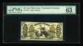 "Fractional Currency:Third Issue, Fr. 1355 50¢ Third Issue Justice PMG Choice Uncirculated 63. PMG comments, ""Exceptional Paper Quality"" on this nice hand-sig..."