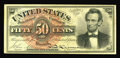 Fr. 1374(5?) 50¢ Fourth Issue Lincoln About New. For years, this cataloger and other Fractional experts have doubte...
