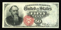 Fr. 1376 50¢ Fourth Issue Stanton Choice About New. Save for a single broad corner tip fold, this may well be as fi...