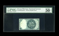 Fractional Currency:Fifth Issue, Milton 2E25R.1 25¢ Fifth Issue PMG Net About Uncirculated 50. Arare Fifth Issue Specimen note dismounted from its card as a...