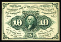 Fractional Currency:Experimentals, Proofs and Essays, Milton 1E10F.1c 10¢ First Issue Essay Very Choice New. This Essayis printed from the finished plate, but printed on card st...