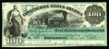 T3 $100 1861. This fully original Montgomery $100 was able to avoid circulation, yet after the war it was mounted with t...