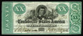 Confederate Notes:1861 Issues, T21 $20 1861. Another note from this fine collection that will occupy a spot in the Fricke condition census top ten. This is...
