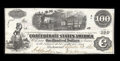 Confederate Notes:1862 Issues, T40 $100 1862. This note carries a neat interest paid stamp fromthe Henry Savage Depositary in Wilmington, NC. A slight pap...