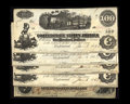 Confederate Notes:1862 Issues, T40 $100 1862 Five Consecutive Examples. T41 $100 1862.. The T40sare dated Jan. 6, 1863 and grade VF or better. The... (Total: 6notes)