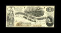 Confederate Notes:1862 Issues, T44 $1 1862. A corner fold is spotted on this example that has asmall dot of ink erosion. Choice About Uncirculated..