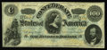 Confederate Notes:1862 Issues, T49 $100 1862. A broad corner fold accounts for the handling onthis C-note with four delightful margins. Choice About Unc...