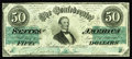 Confederate Notes:1862 Issues, T50 $50 1862. Faint handling is detected after a thoroughinvestigation. Choice About Uncirculated.. From TheBenjamin...
