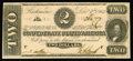 Confederate Notes:1862 Issues, T54 $2 1862. Four ample margins encircle this $2. Choice CrispUncirculated....