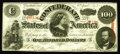 Confederate Notes:1863 Issues, T56 $100 1863. Light folds are uncovered after much scrutiny alongwith a couple of pinholes. Extremely Fine.. From Th...