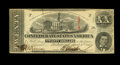 Confederate Notes:1863 Issues, T58 $20 1863. A couple of folds criss-cross the surface on thisbright CSA note. Extremely Fine-About Uncirculated....