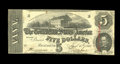 Confederate Notes:1863 Issues, T60 $5 1863. This vivid note exhibits strong embossing on theoverprint which is dated November, 1863. Choice Crisp Uncirc...
