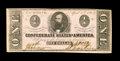 Confederate Notes:1863 Issues, T62 $1 1863. Here is a pleasing Clay example that has a small holein the portrait area. Crisp Uncirculated....