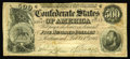 Confederate Notes:1864 Issues, T64 $500 1864. The fragile paper has yielded a handful of edge tears with the longest being approximately a quarter of an in...