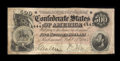 Confederate Notes:1864 Issues, T64 $500 1864. Here is a high denomination CSA note that seems to have been starched heavily at one time as the back of this...