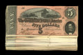 Confederate Notes:1864 Issues, T69 $5 1864. This extremely attractive group of Confederate $5's is made even more interesting for two reasons. The first is... (Total: 44 notes)