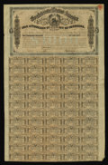Confederate Notes:Group Lots, Ball 323 $1000 Confederate Bond. The vignette is of the Confederateseal, while all 60 coupons remained attached on this lat...
